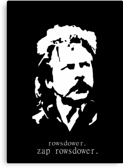 Rowsdower.  Zap Rowsdower.  Poster by Margaret Bryant