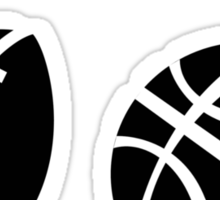 football vs basketball  Sticker