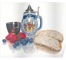 Beer, Bread & Berries Poster