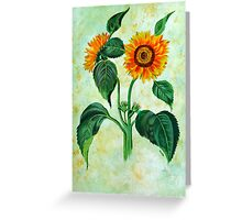 Vintage Sunflowers  Greeting Card