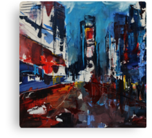 Times Square by Night Canvas Print