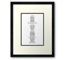 """How do you say """"creativity""""? Framed Print"""