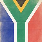 South Africa Vintage Flag by Barbo