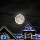 Full Moon Over Village of The Castle of Muskogee by bannercgtl10