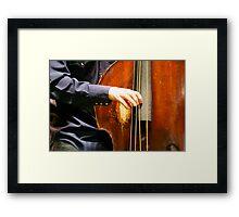 Bass Hands Framed Print