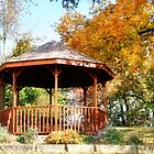Gazebo in Autumn by Nadya Johnson