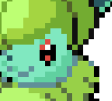 Bulbasaur Eevee Pokemon Splice Pixel Art Sticker