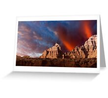 Sunrise over Badlands Window Trail .3 Greeting Card