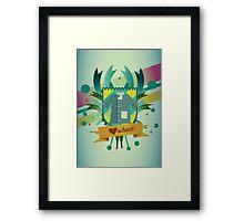 love school Framed Print