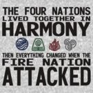The Four Nations - Avatar: The Last Airbender (Black Text) by VRex