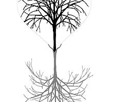 Heart and barren tree of winter by nadil
