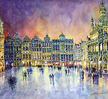 Belgium Brussel Grand Place Grote Markt by Yuriy Shevchuk