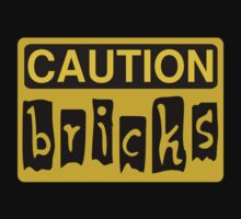 Caution Bricks Sign by Customize My Minifig by ChilleeW