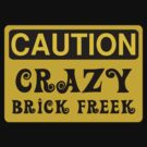Caution Crazy Brick Freek Sign by Customize My Minifig by ChilleeW