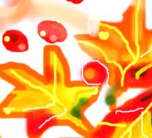 WHIRLING LEAVES   TEE SHIRT/KIDS TEE/STICKER Sticker