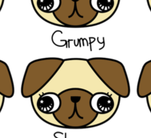 The many facial expressions of a pug Sticker