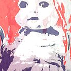 Scary Doll Screenprint #4 by Jessica Slater