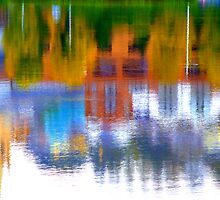 Autumn Reflections On The River Foyle by Fara