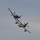 Hawker Hunter F58 Miss Demeanour and P51D Mustang by PhilEAF92