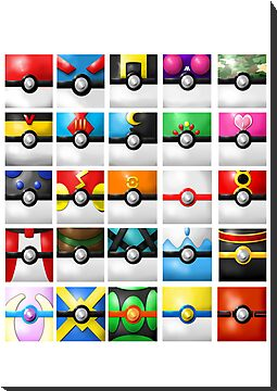 Pokeball collection by Margybear