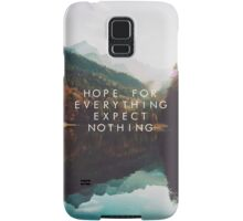 Hope For Everything, Expect Nothing Samsung Galaxy Case/Skin