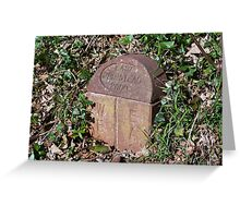 Meridian Line Marker Stone Greeting Card