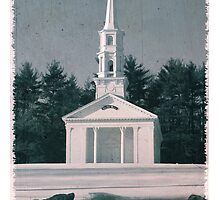 Martha Mary Chapel by Longfellow's Wayside Inn by WickedClick