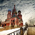 St. Basil 's Cathedral, Moscow landscape by fine-art-prints