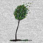 windy tree by colmi