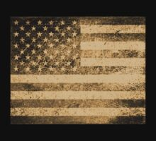 Old American Flag Grunge by Nhan Ngo