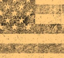 Old American Flag Grunge Sticker