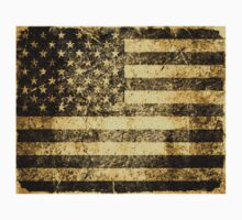 Old American Flag Grunge Cracked Wall Kids Clothes