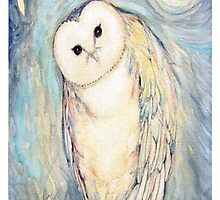 Snow Owl by nakeciawinona