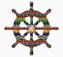Aztec Pattern Ship Wheel by localboy91