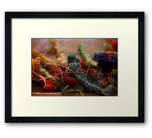 Weaver's Yarn Framed Print