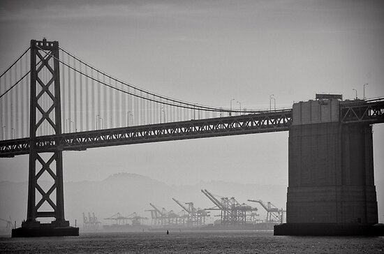 Industry in the distance - San Francisco by Norman Repacholi