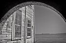 Weather beaten weather boards - Alcatraz, San Francisco by Norman Repacholi