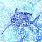 Swirly Shark by CarolinaMatthes