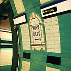 Way Out sign on London Tube by Sue Robinson