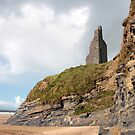 castle ruins above the cliffs by morrbyte