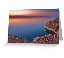 Dead Sea Sunset Greeting Card