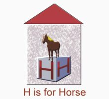 H is for Horse T-shirt by Dennis Melling