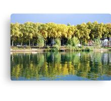 Reflections in the river Rhone at Lyon - France Canvas Print