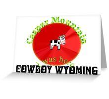 Casper Mountain Wyoming Greeting Card