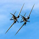 Two BBMF Spitfire PR.XIXs by Colin Smedley