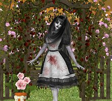 Rose Garden at Halloween by LoneAngel