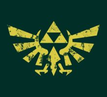 Zelda Triforce Gold Worn by doodlemarks