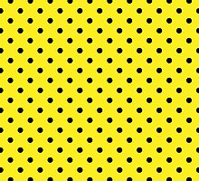 Polka Dots Yellow and Black by Medusa81