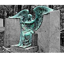 The Weeping Angel {Haserot family plot} Photographic Print