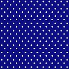 Polka Dots Blue and White by Medusa81